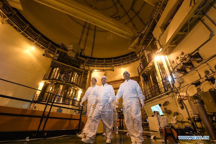 Team responsible for maintenance in Shenzhen's nuclear power plant