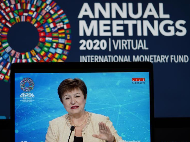 IMF chief says maintaining policy support to households, firms critical for pandemic recovery