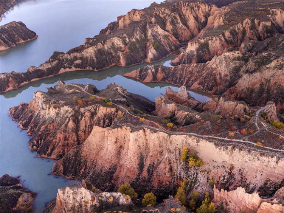 Scenery of Mahuangliang loess geo-park in Shaanxi