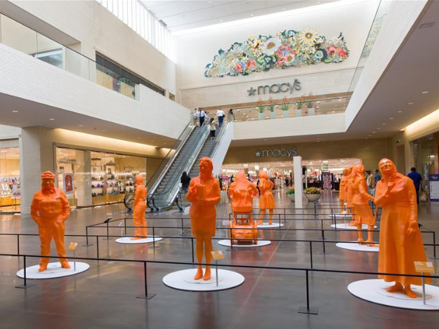 3D printed statues on display at shopping mall in US Dallas to celebrate women in STEM