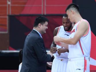 Ring presentation ceremony for CBA championship held in Zhuji, Zhejiang