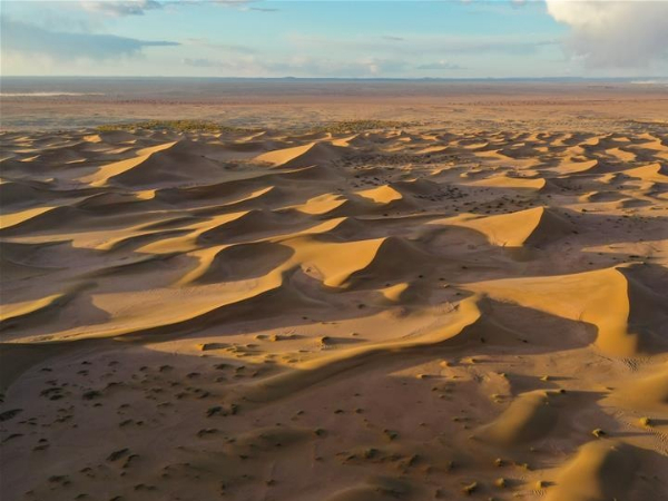 View of Badain Jaran Desert in Inner Mongolia
