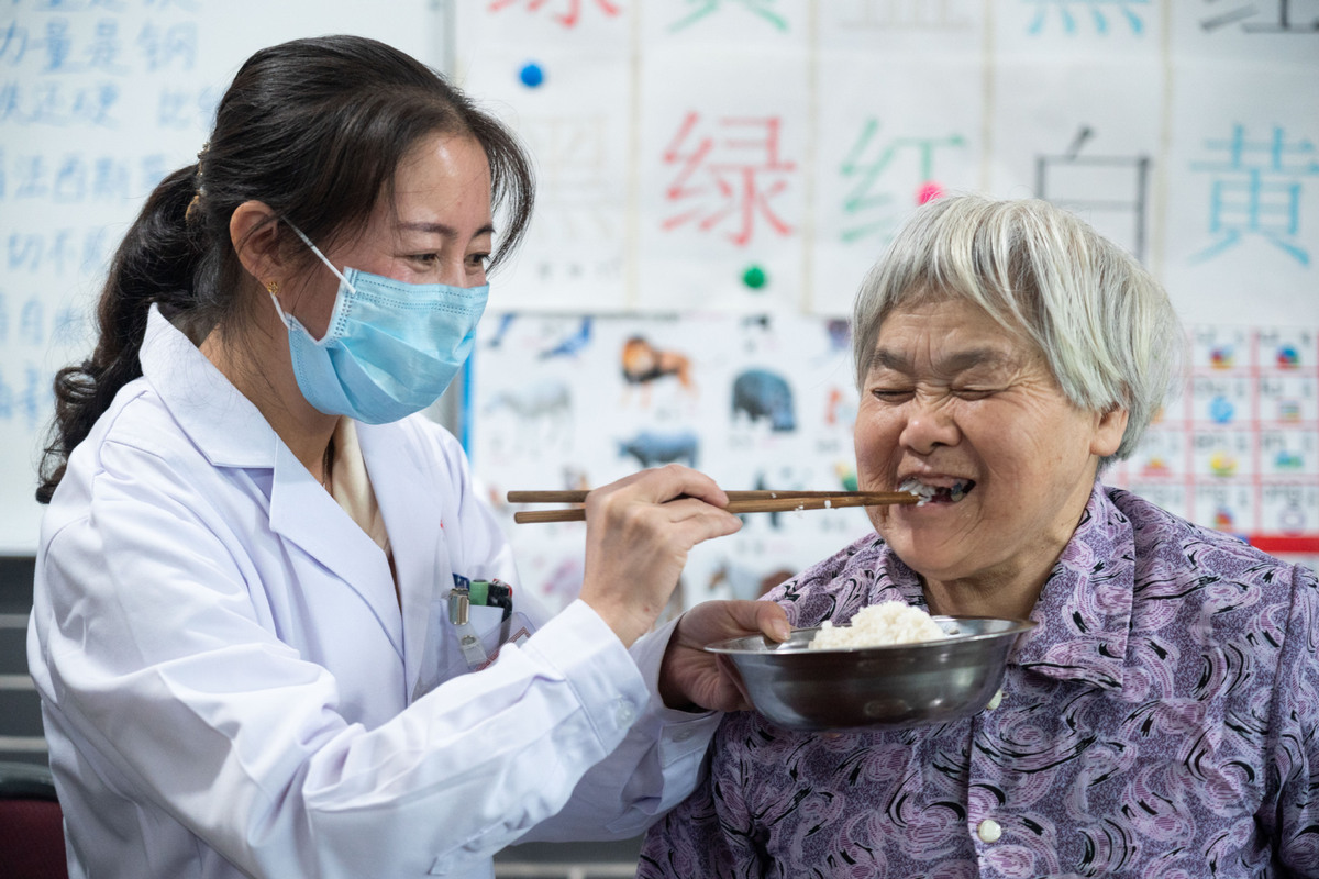 Hospital sets up geriatric unit to provide services to elderly residents in C China