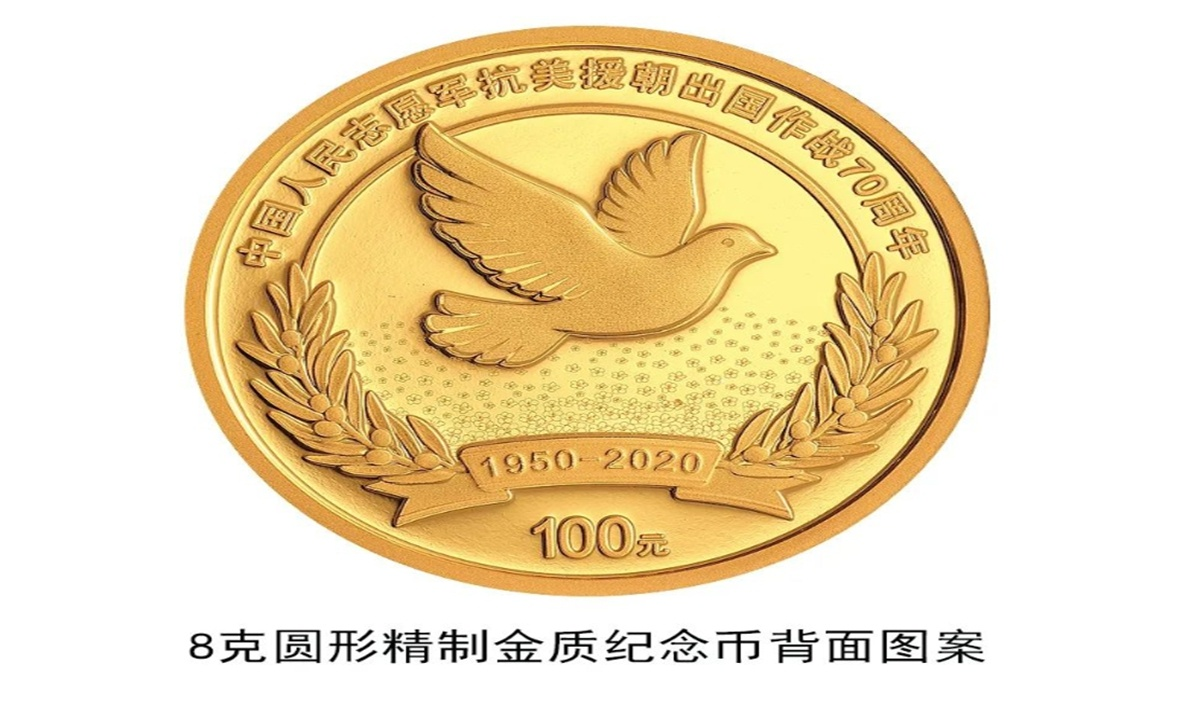 China issues commemorative coins to mark 70th anniversary of Korean War