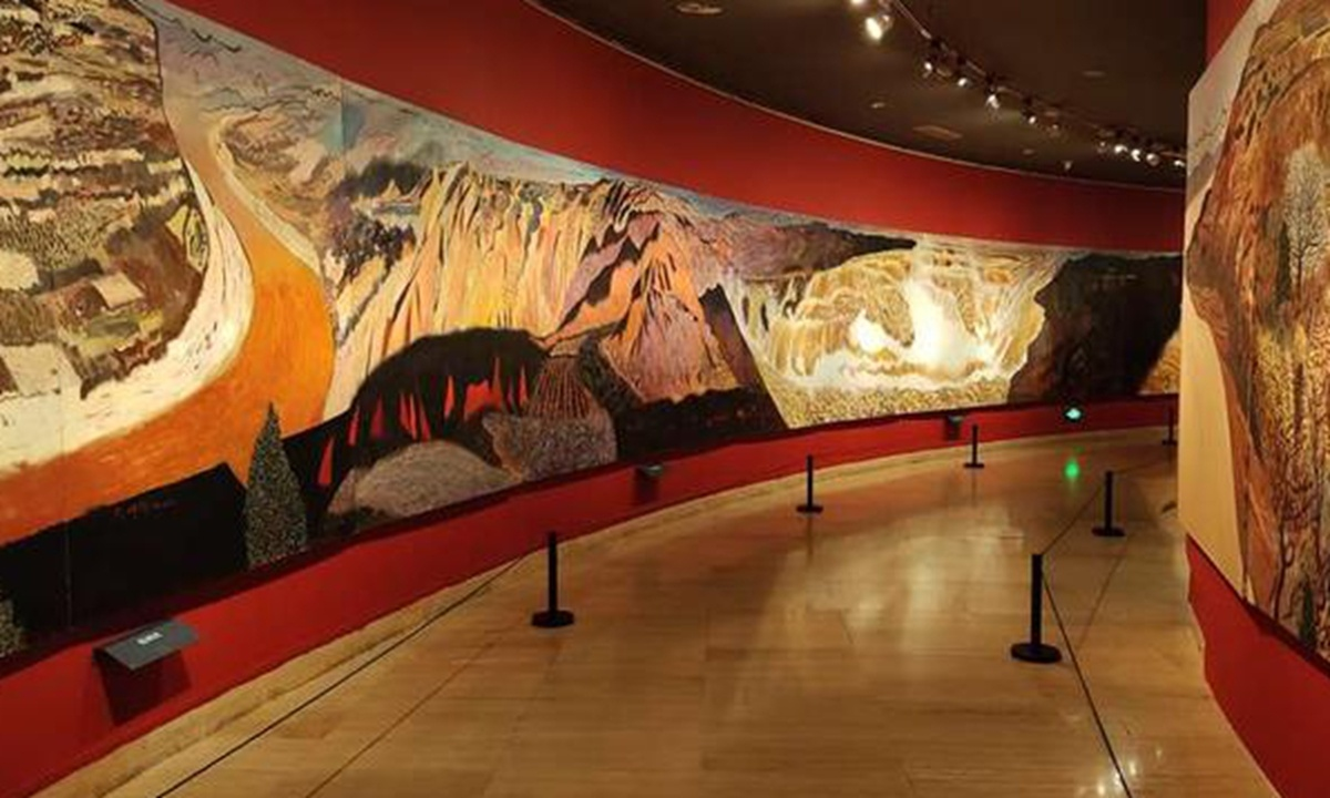 'Yellow River' scroll shines at National Art Museum of China