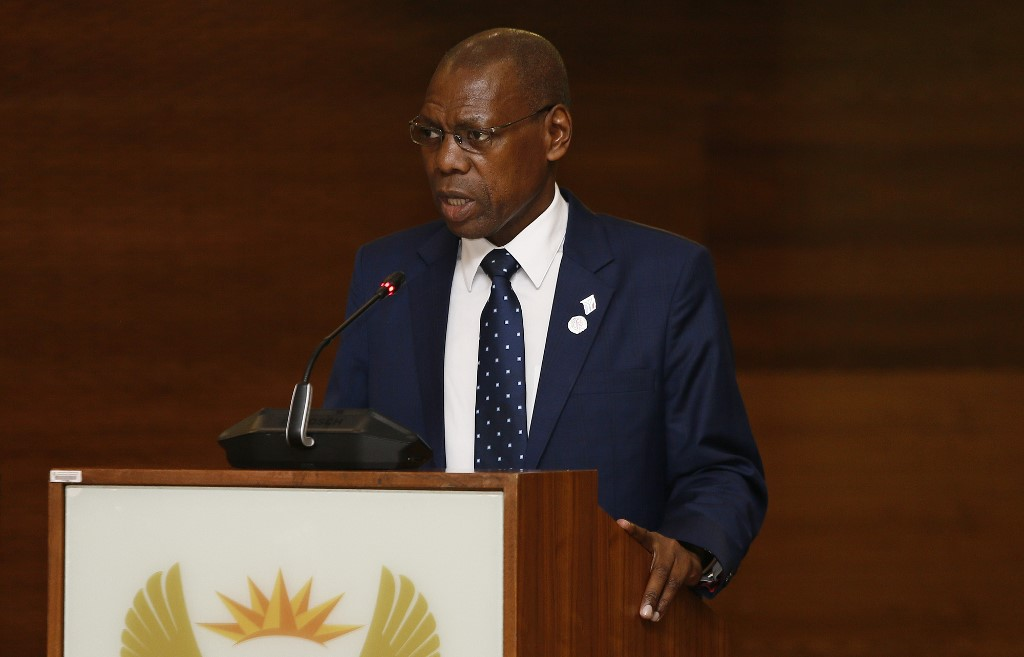 South Africa's health minister says has Covid-19