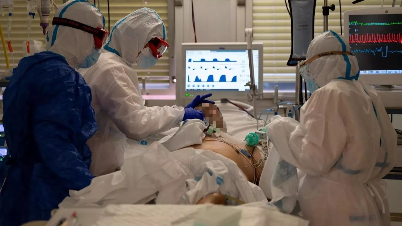 Madrid hospital struggles with surge in virus cases