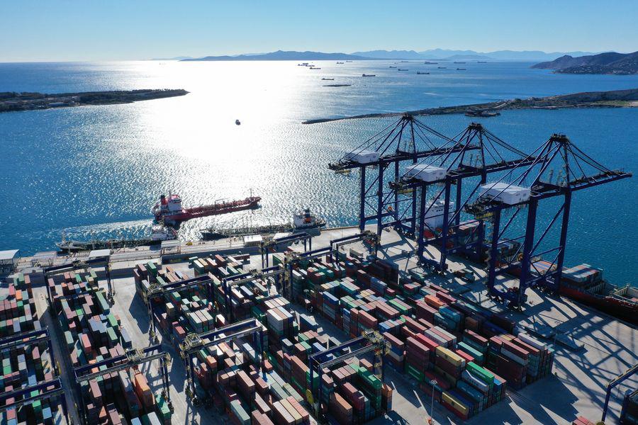Greek's Piraeus Port