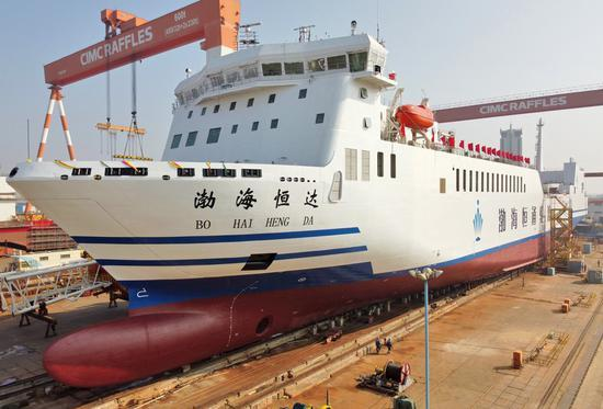 Asia's largest multipurpose 'ro-ro' ship launched in east China