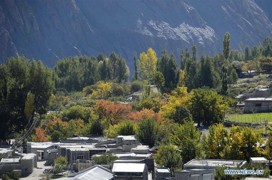 Autumn scenery in Pakistan's northern Gilgit-Baltistan region