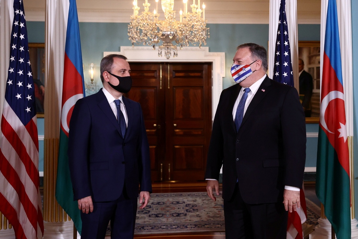 Pompeo meets with FMs of Armenia, Azerbaijan over Nagorno-Karabakh conflict