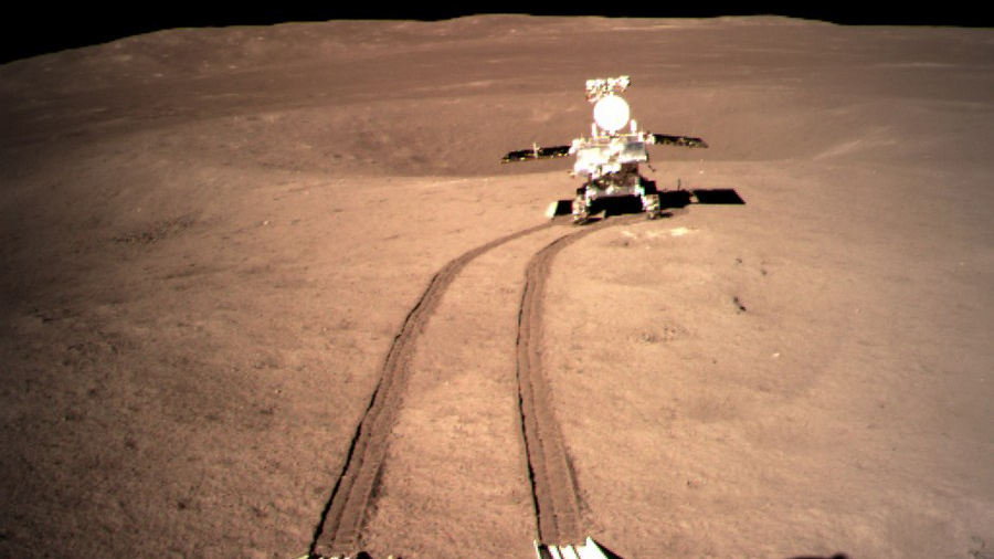 China's lunar rover travels 565.9 meters on moon
