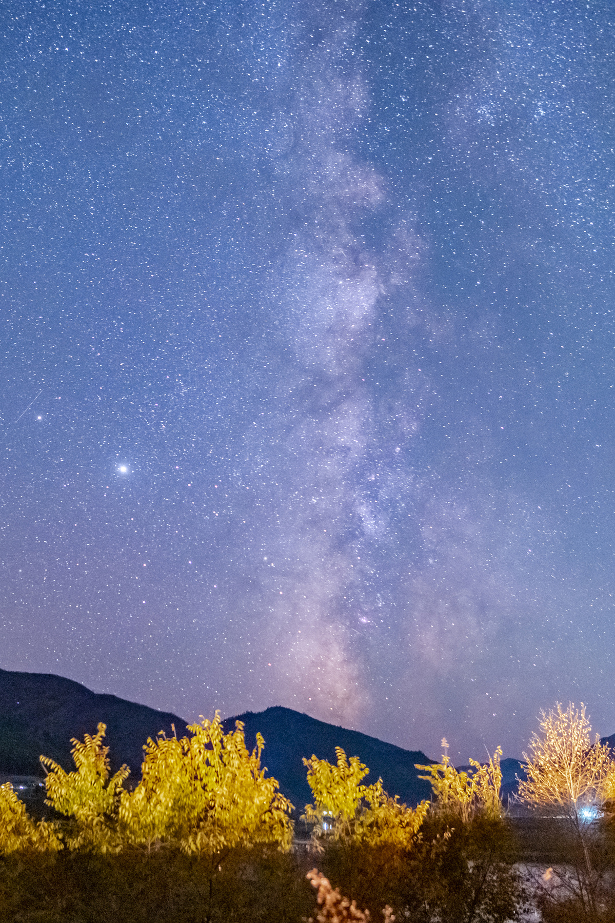 Starry night sky in Jilin