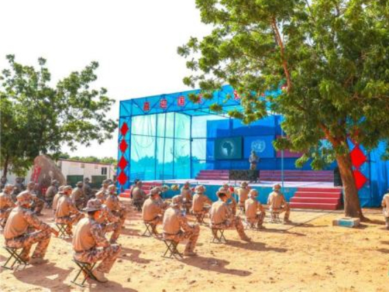 China's 16th engineering unit of peacekeepers to Sudan's Darfur starts training