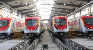 China-built Orange Line Metro Train in Pakistan starts operation