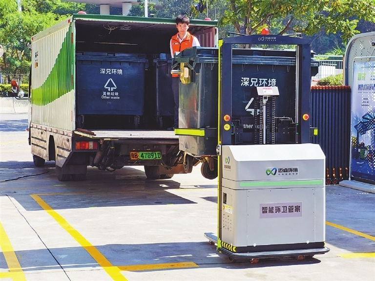 Sanitation workers get help from intelligent robots