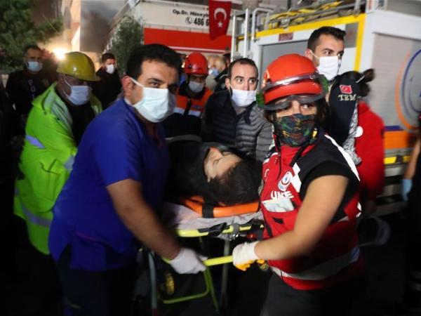 Turkey says 12 killed, 438 wounded in Aegean Sea earthquake