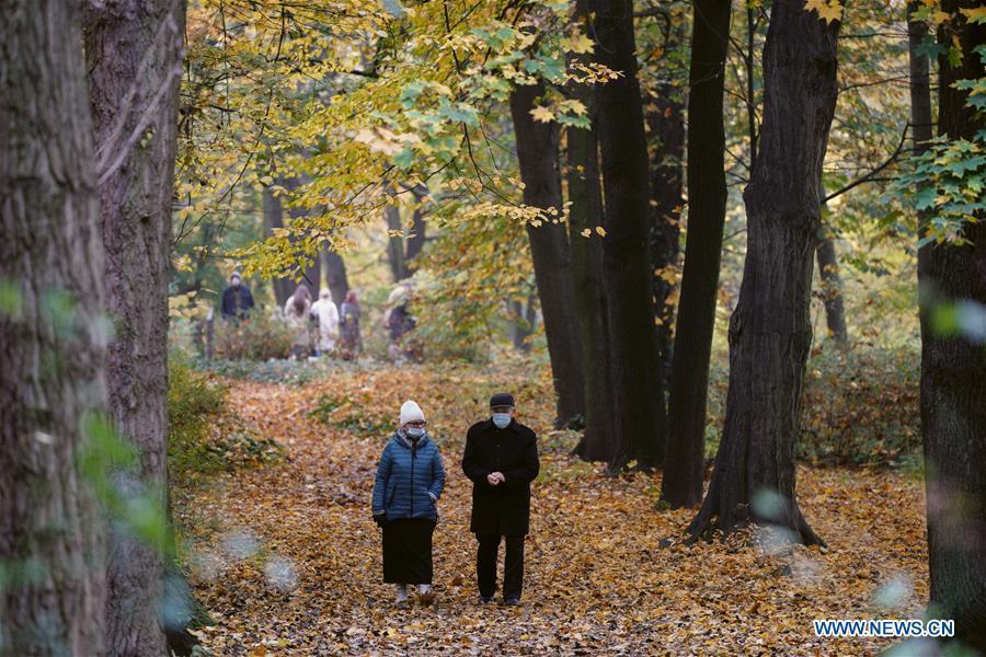 Autumn view in Royal Lazienki Park, Poland