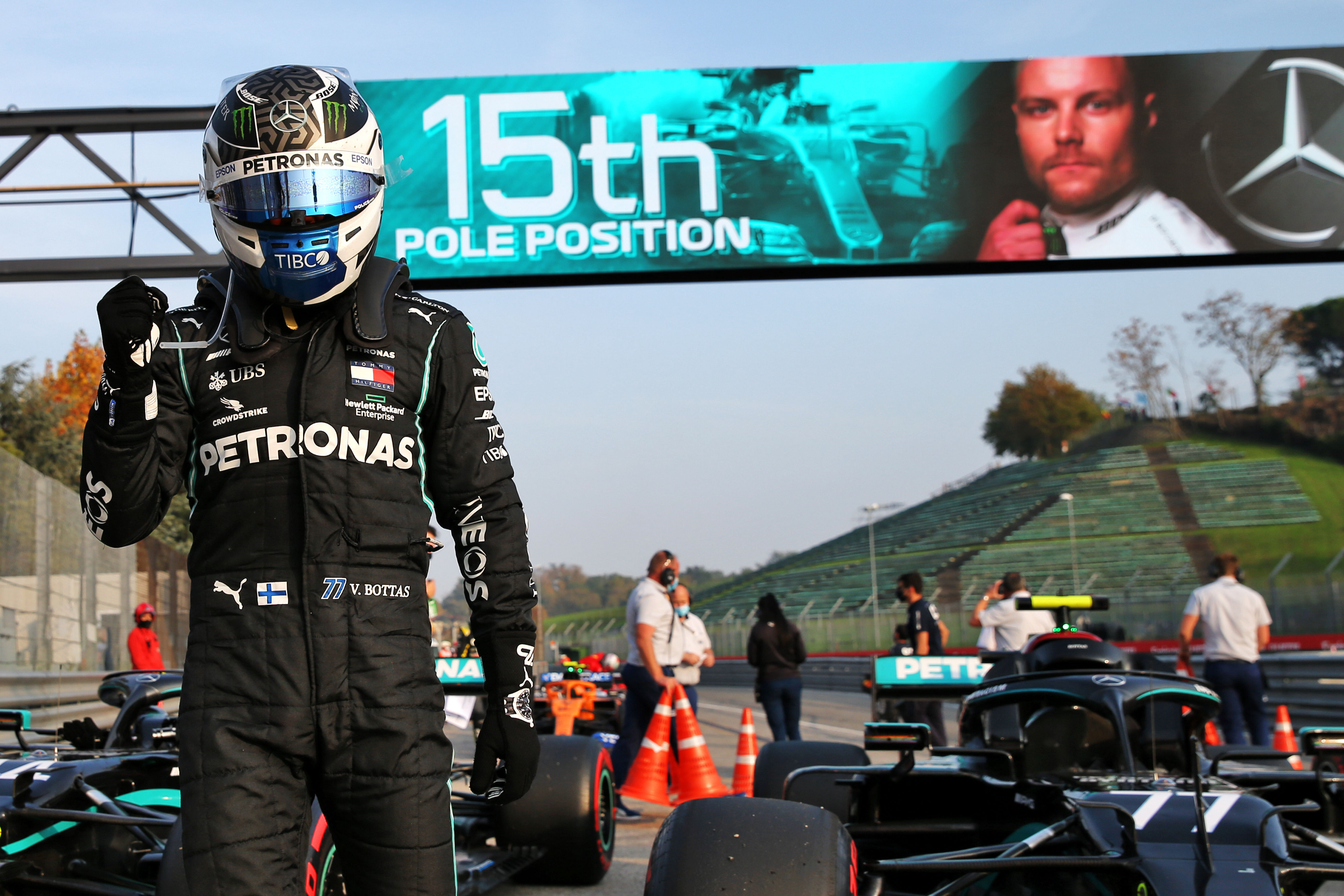 F1 fears virus lockdowns may hit the season as Mercedes in pole seat for milestone