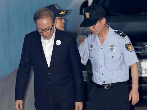 South Korea's ex-president Lee Myung-bak goes back to prison