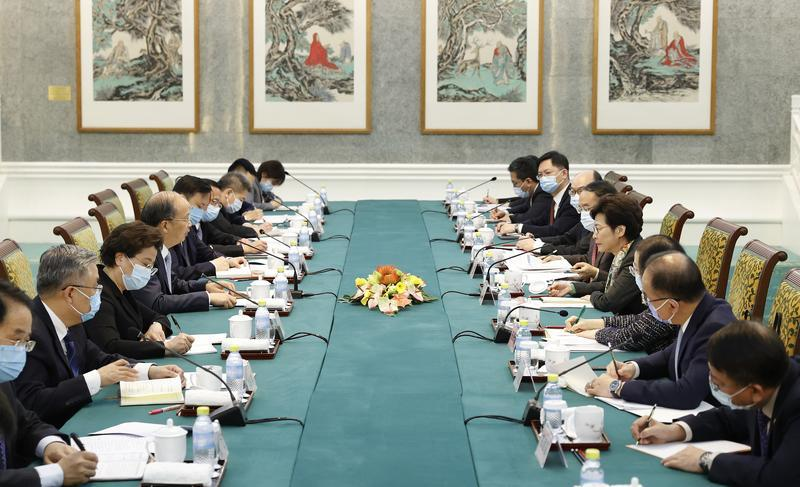 Carrie Lam continues discussions with central govt officials