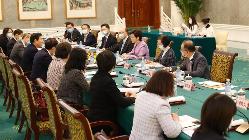 CE seeks supports for HK economic revival