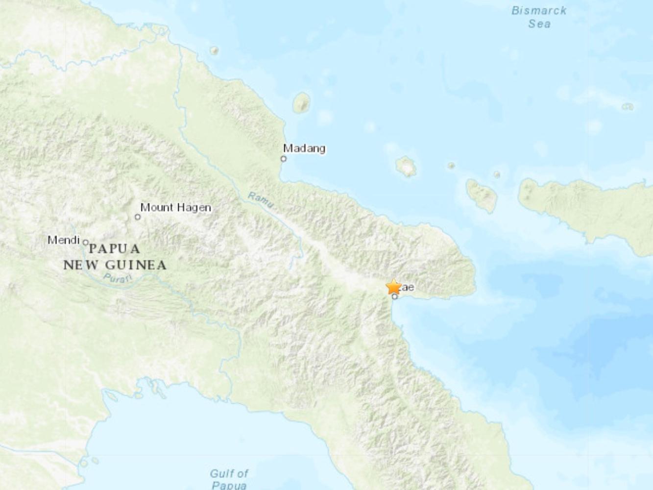 5.2-magnitude quake hits 14 km NW of Lae, Papua New Guinea: USGS