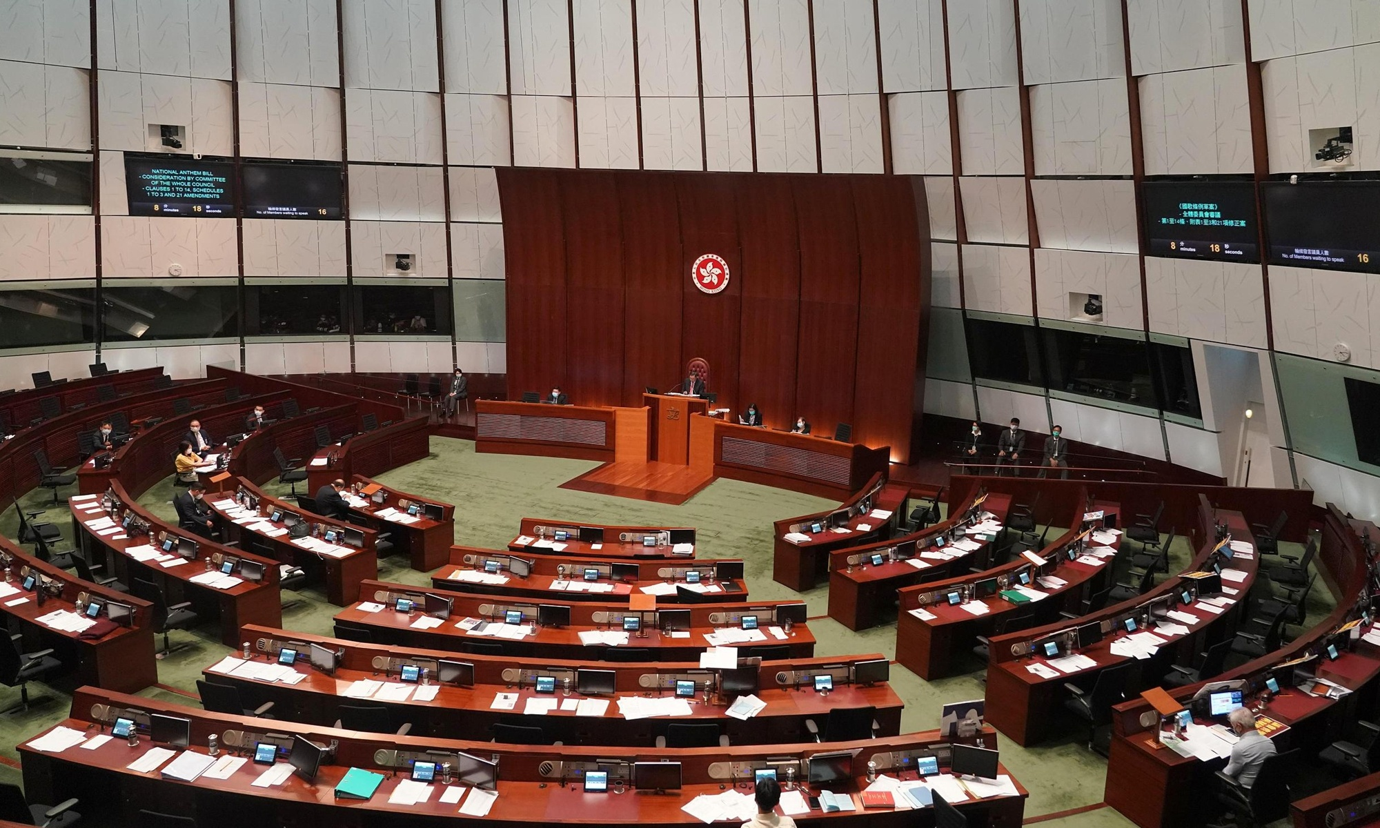 Eight HK lawmakers charged with contempt, interfering with legislative meeting