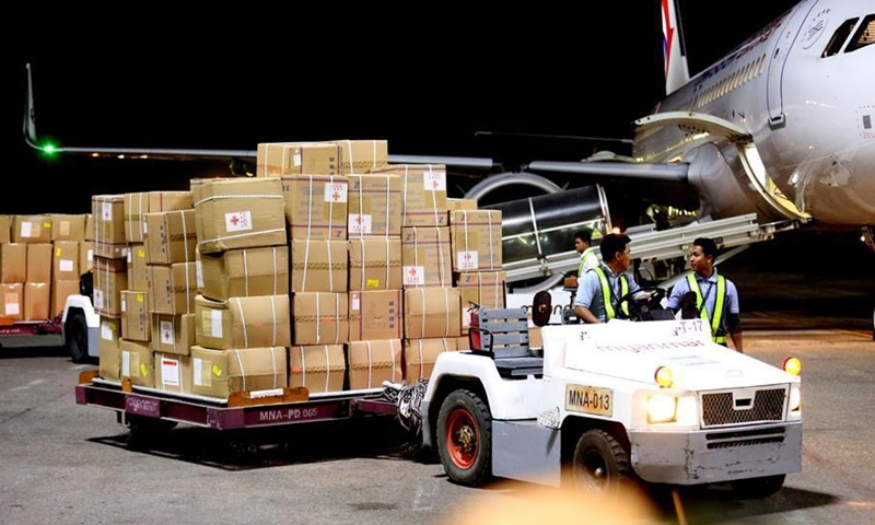 China donates more medical supplies to Myanmar to help fight COVID-19