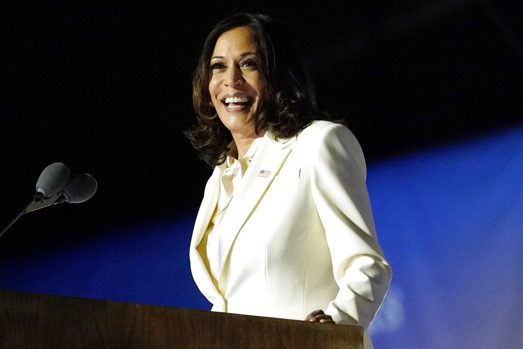 Harris pays tribute to Black women in 1st speech as VP-elect: AP