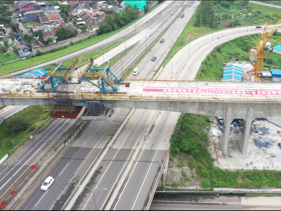 Major continuous beam closed in Jakarta-Bandung High-Speed Railway