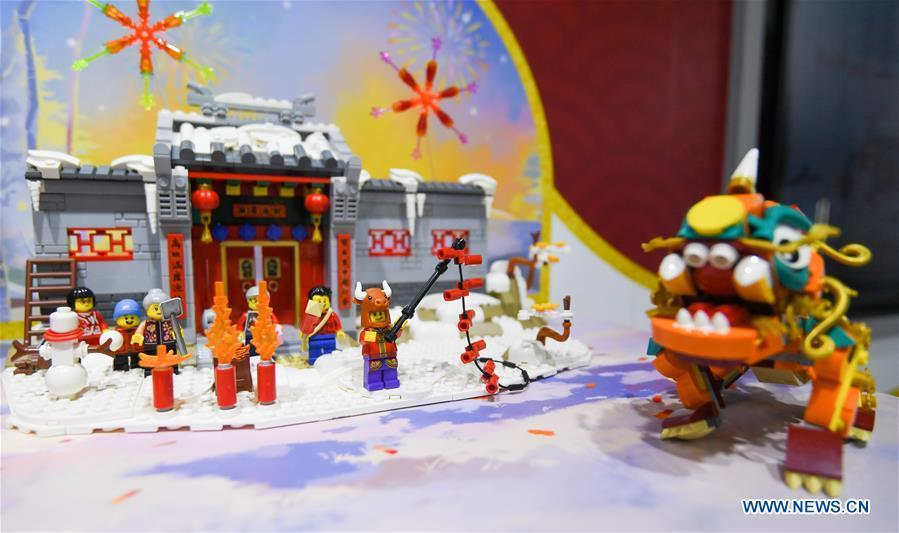 LEGO Group releases several world's first toy sets at 3rd CIIE