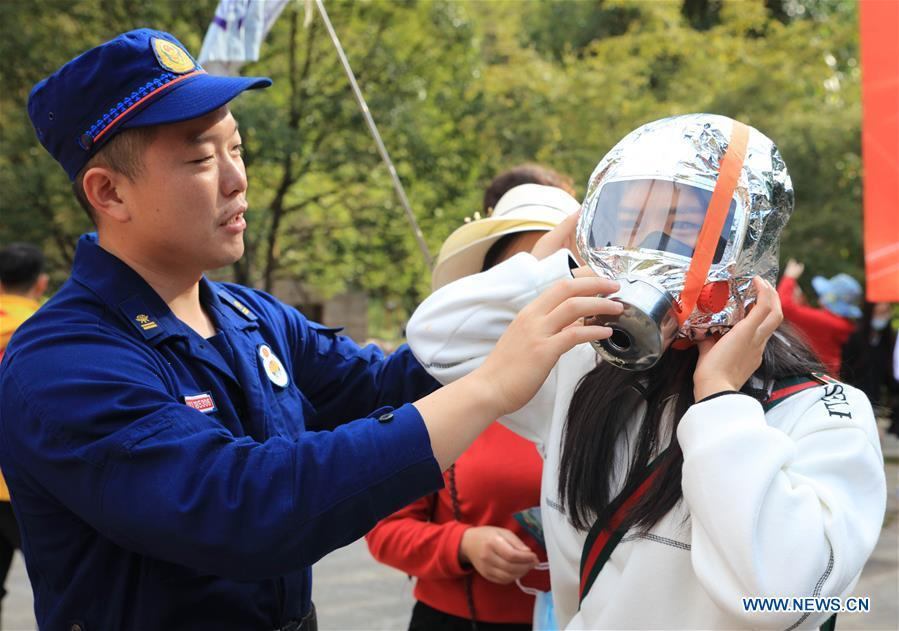 Fire-fighting exercises, public educational campaigns held across China