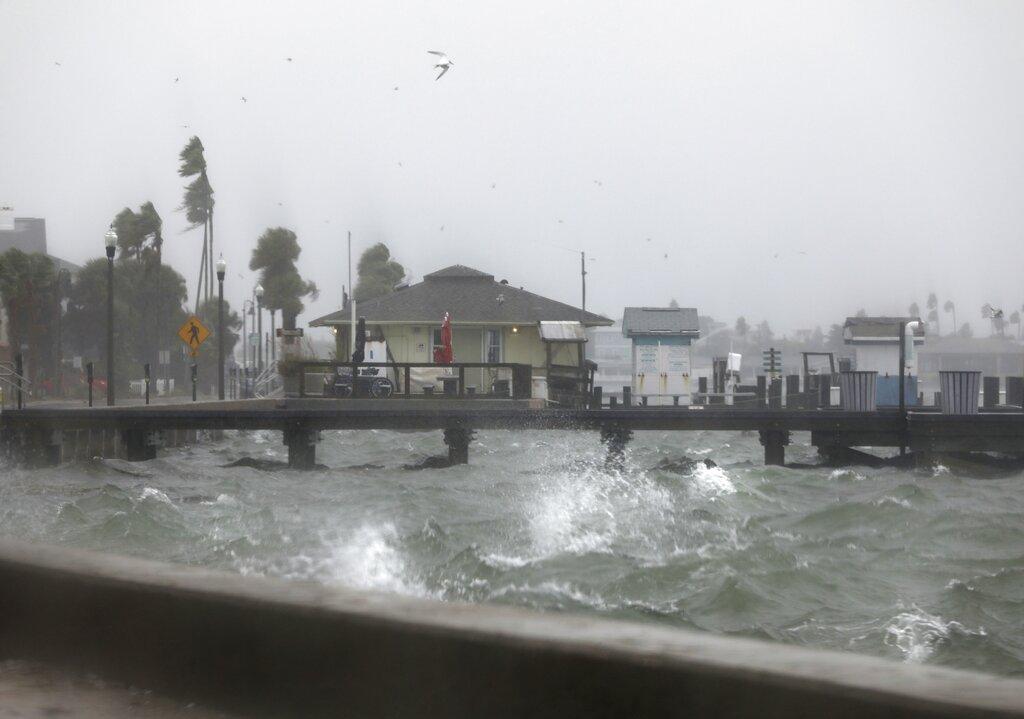 Tropical Storm Eta dumps blustery rain on Florida west coast
