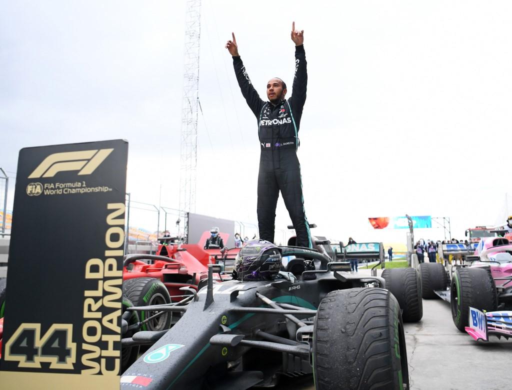 Hamilton wins record-equalling seventh F1 world title