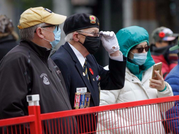 Remembrance Day held under health safety measures in Vancouver