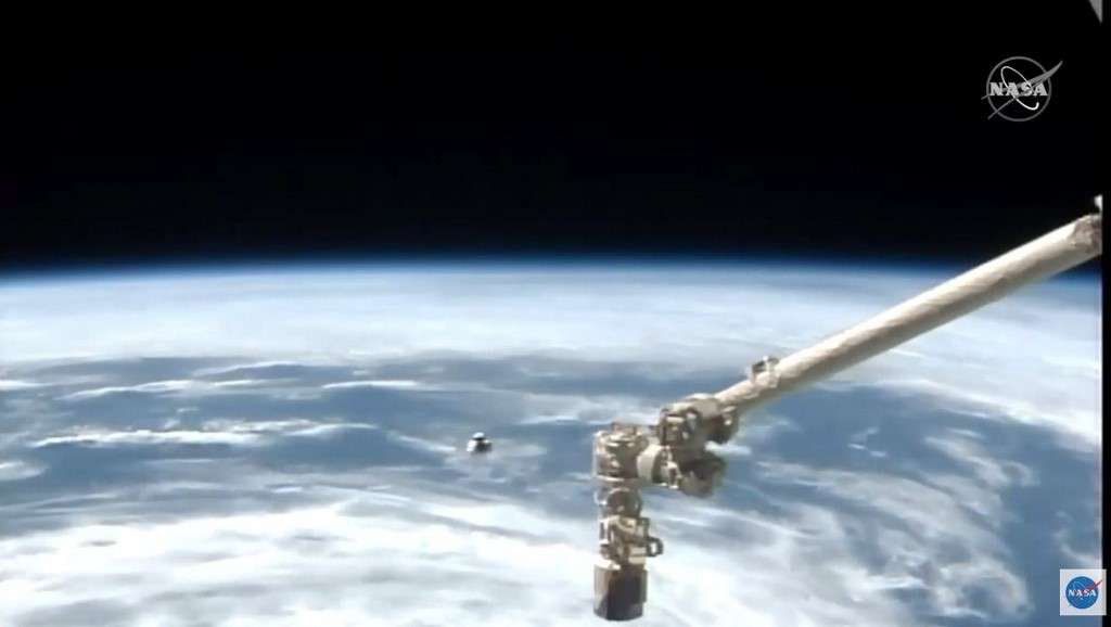 SpaceX Crew Dragon spacecraft docks with ISS