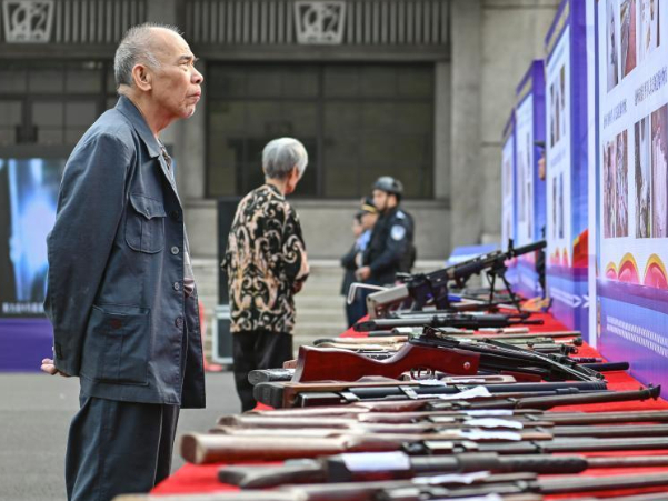 Thousands of illegal guns destroyed as Guangdong police crackdown on crime