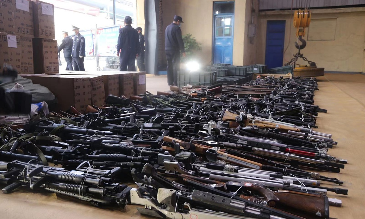 Chinese police destroy 69,000 illegal guns in nationwide operation