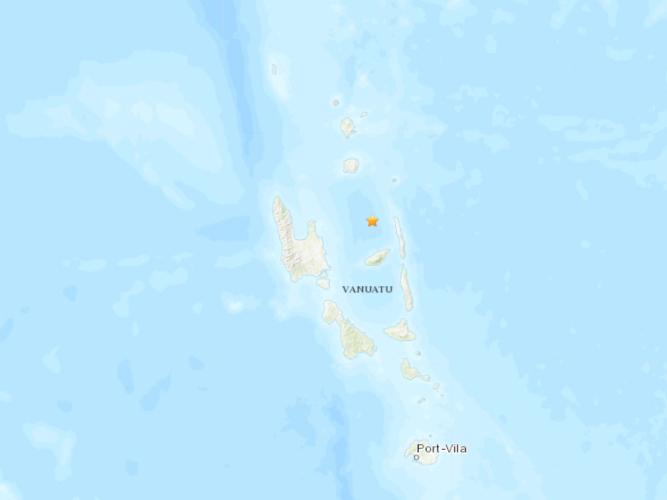 5.1-magnitude quake hits 76 km east of Port-Olry, Vanuatu: USGS