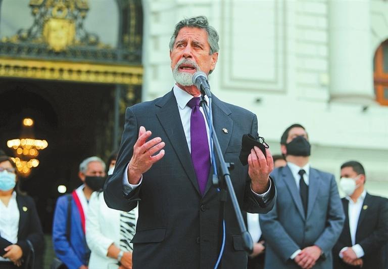 Lawmaker named Peru's third president in a week