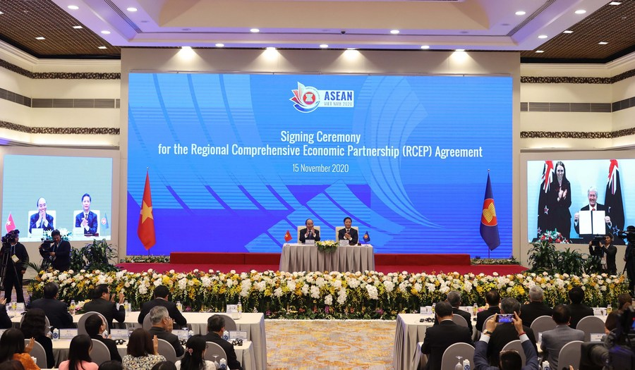 China stresses importance of implementing RCEP trade pact as scheduled