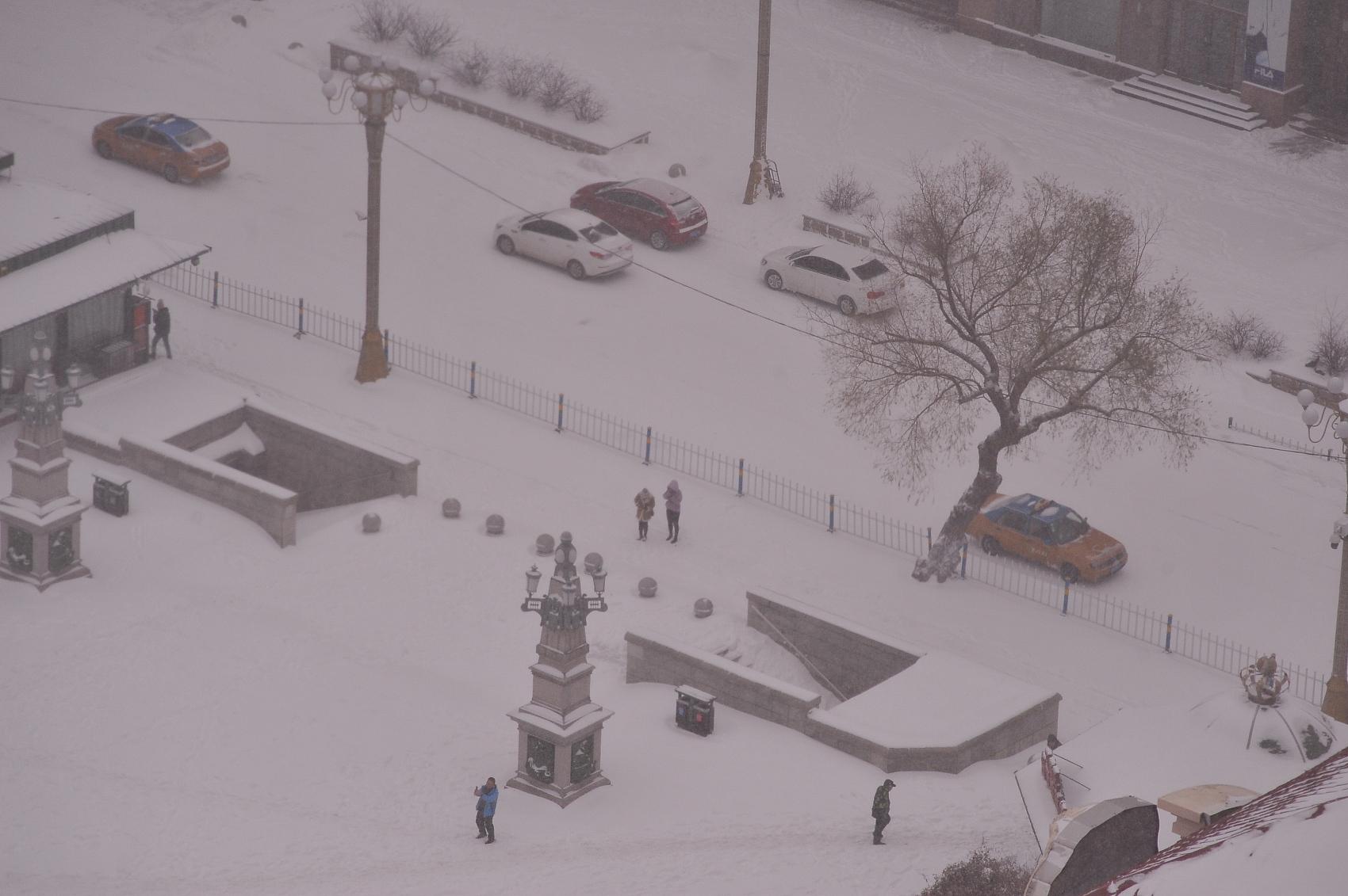 Heavy snow hits northeast China's Heilongjiang