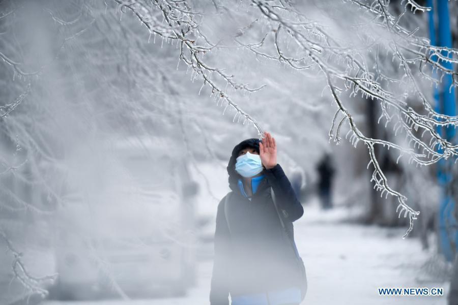 Heavy rain and snow hit Changchun, northeast China's Jilin