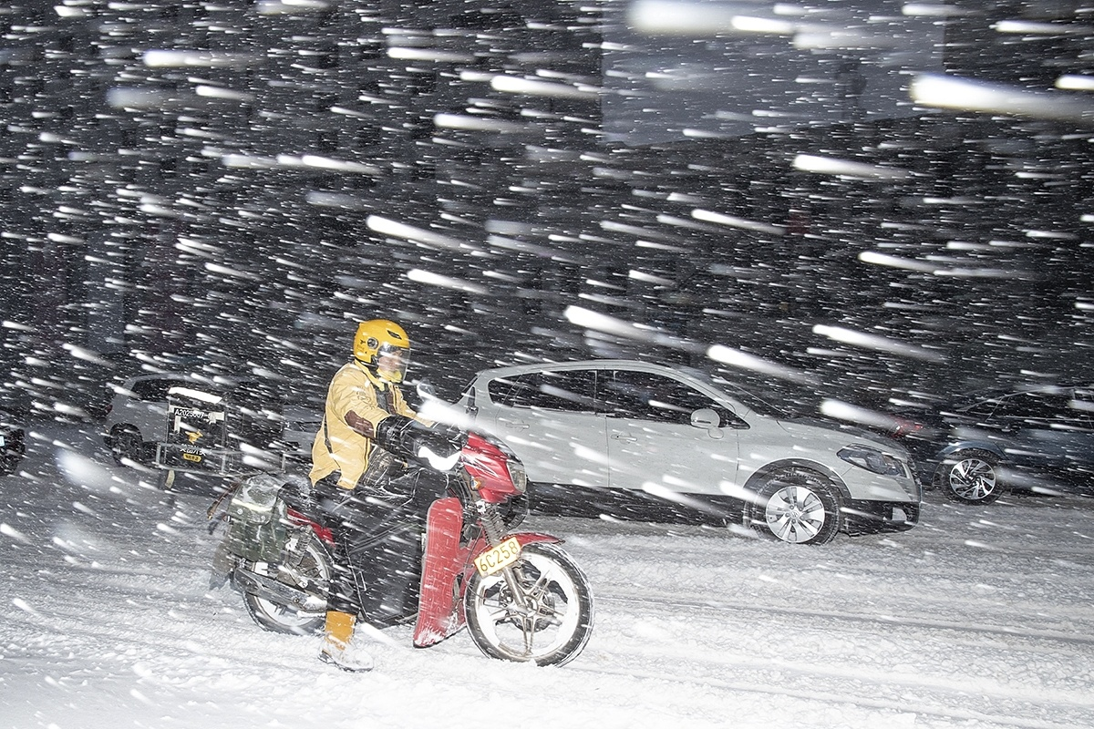 Snowstorms on course to move southward