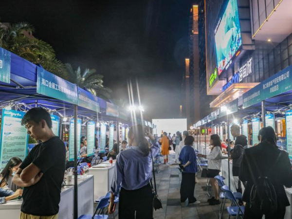 Job fair held in Haikou, S China