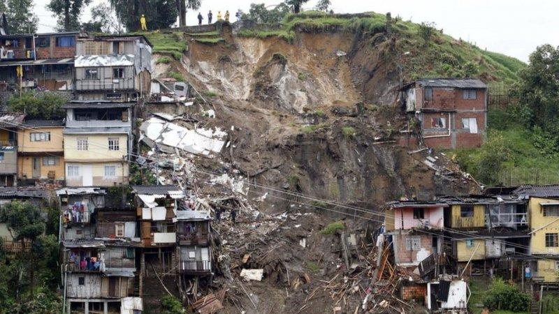 4 killed, 10 injured, 15 missing in landslide in NW Colombia