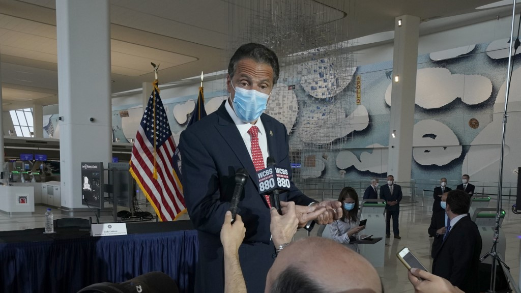 New York State governor warns of COVID-19 hospitalization spike over holiday season