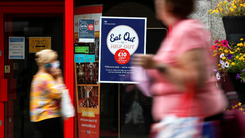 Eat Out to Help Out: UK spent 849 million pounds on COVID dining subsidy