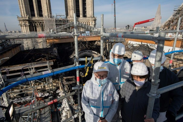 Milestone for Notre-Dame as fire-damaged scaffolding cleared